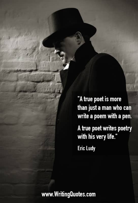 Man in top hat and coat - Eric Ludy quotes about poetry and life - Writing Poetry Quotes