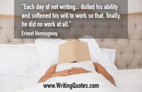 Man in bed with book on face - Ernest Hemingway quotes about dulled and work - Hemingway Quotes On Writing