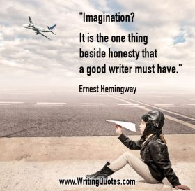 Girl with paper plane at airfield - Ernest Hemingway quotes about imagination and honesty - Hemingway Quotes On Writing