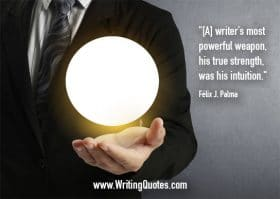 Man in suit with floating orb above hand - Felix J. Palma quotes about strength and intuition - Inspirational Writing Quotes