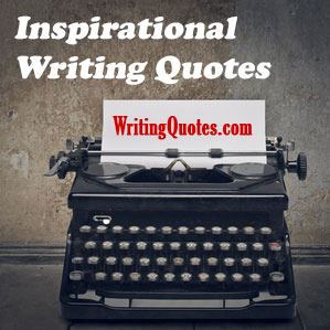 Inspirational writing quotes logo