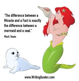 Mermaid and a seal - Mark Twain quotes about mermaid and seal - Mark Twain Quotes On Writing