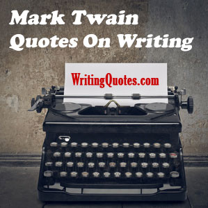 Mark Twain quotes on writing logo