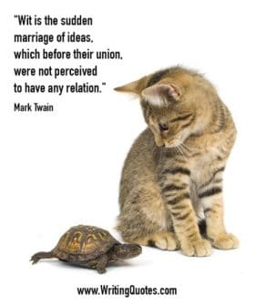 Cat and turtle - Mark Twain quotes about ideas and union - Mark Twain Quotes On Writing