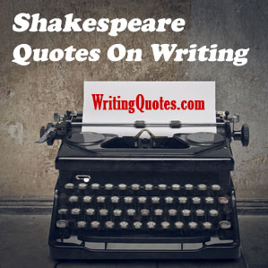Shakespeare quotes on writing logo