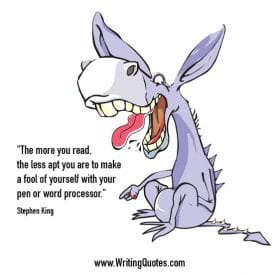 Donkey pointing and laughing - Stephen King quotes about fool and yourself - Stephen King Quotes On Writing