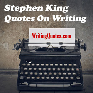 Stephen King quotes on writing logo