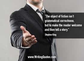 Man in suit with outstretched hand - Stephen King quotes about reader and welcome - Stephen King Quotes On Writing