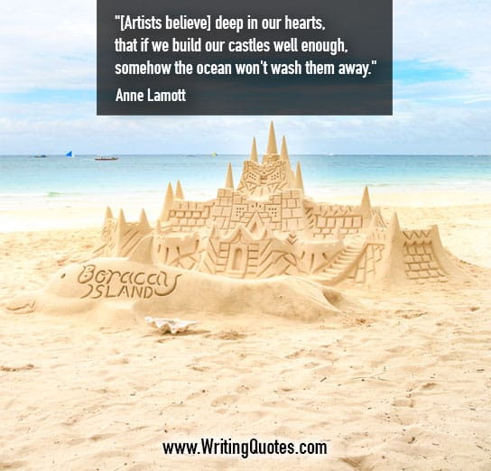 Quotes About Castles Classy Anne Lamott Quotes  Build Castles