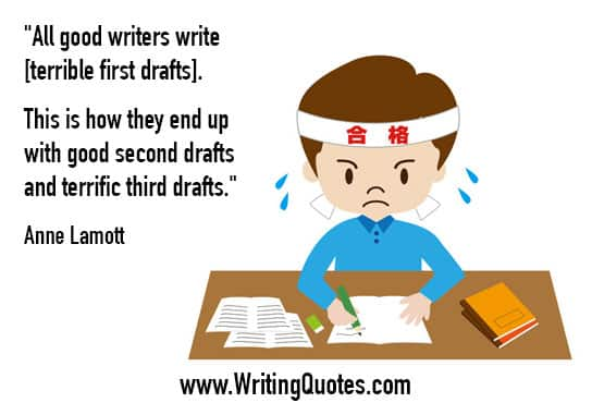 Anne Lamott Quotes – Second Drafts – Inspirational Writing Quotes