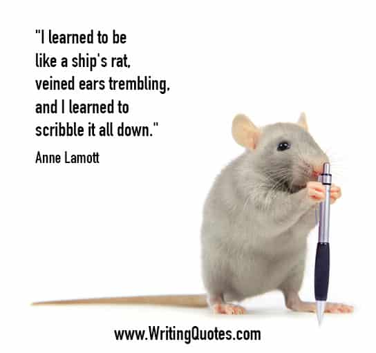 Anne Lamott Quotes – Scribble Down – Funny Writing Quotes