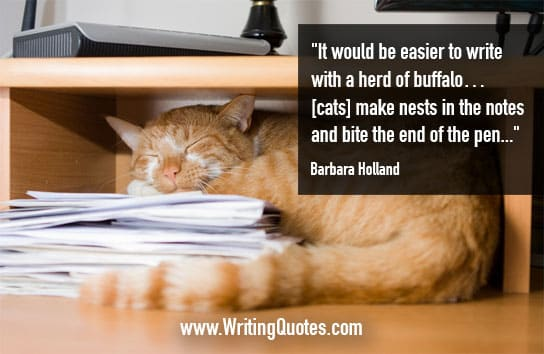 Barbara Holland Quotes – Herd Buffalo – Funny Writing Quotes