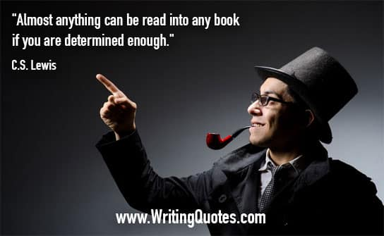 CS Lewis Quotes – Determined Enough – Writing Quotes About Reading Books