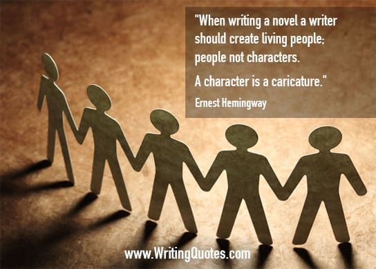 Ernest Hemingway Quotes – Character Caricature – Hemingway Quotes On Writing