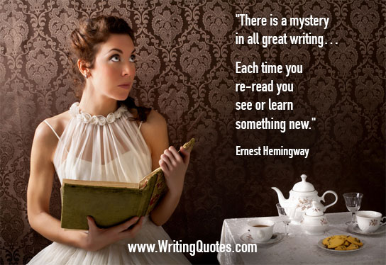 Ernest Hemingway Quotes – Mystery Great – Hemingway Quotes On Writing
