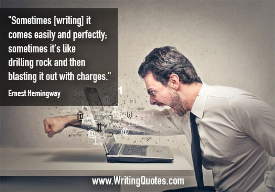 Ernest Hemingway Quotes – Easily Perfectly – Hemingway Quotes On Writing