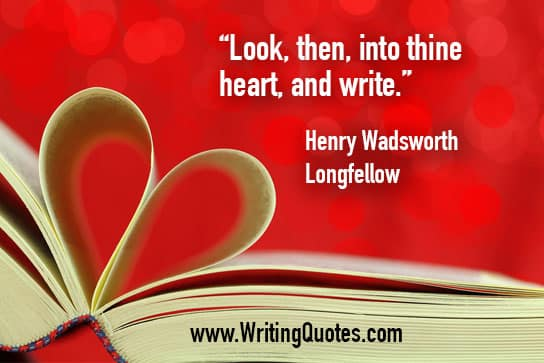 Open book with pages shaped as a heart - Henry Wadsworth LongFellow quotes about thine and heart - Inspirational Writing Quotes