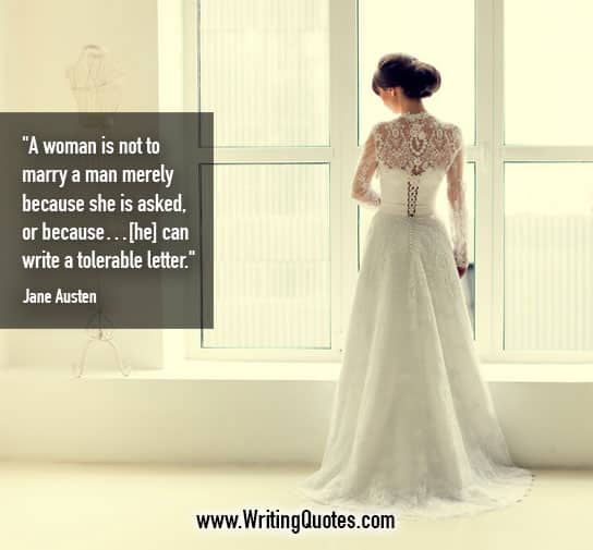 Jane Austen Quotes – Marry Man – Funny Writing Quotes