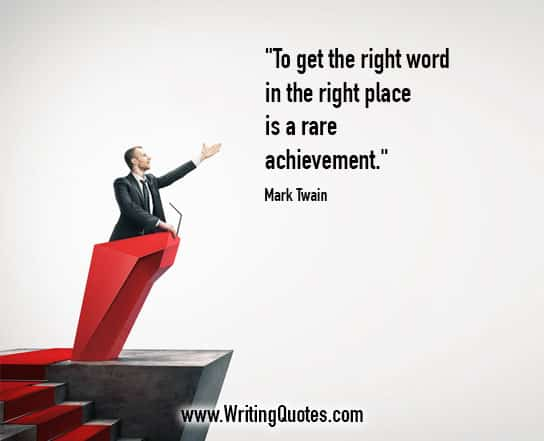 Mark Twain Quotes – Rare Achievement – Mark Twain Quotes On Writing
