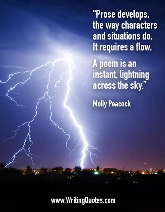 Molly Peacock Quotes – Poem Lightning – Writing Poetry Quotes