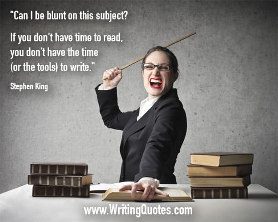 Stephen King Quotes – Blunt Subject – Stephen King Quotes on Writing