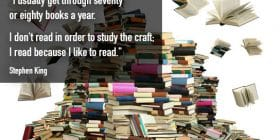 Huge pile of books - Stephen King quotes about study and craft - Stephen King Quotes On Writing