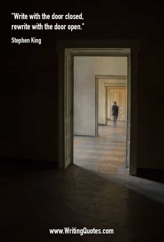 Stephen King Quotes – Door Closed – Stephen King Quotes on Writing