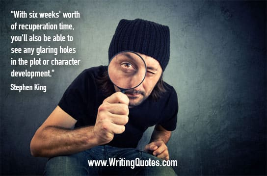 Stephen King Quotes – Recuperation Time – Stephen King Quotes on Writing