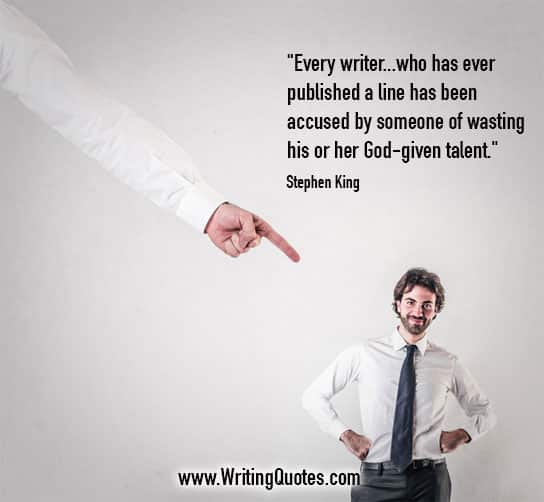 Stephen King Quotes – Wasting Talent – Stephen King Quotes on Writing