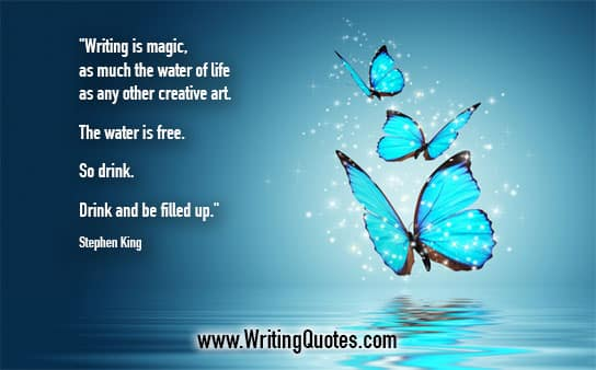 Stephen King Quotes – Water Free – Stephen King Quotes on Writing