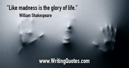 Shakespeare Quotes About Life Prepossessing William Shakespeare Quotes  Madness Life