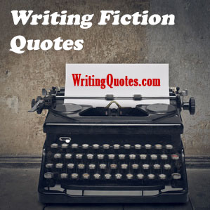 Writing fiction quotes logo