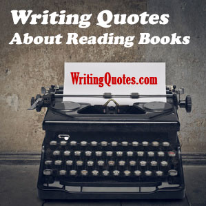 Writing quotes about reading books logo