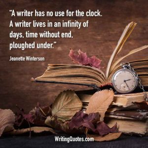 Jeanette Winterson Quotes – Clock Infinity – Writing Quotes
